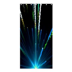 Seamless Colorful Blue Light Fireworks Sky Black Ultra Shower Curtain 36  X 72  (stall)  by AnjaniArt