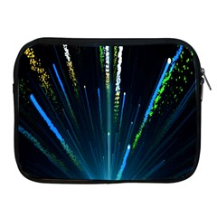 Seamless Colorful Blue Light Fireworks Sky Black Ultra Apple Ipad 2/3/4 Zipper Cases