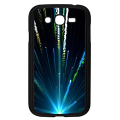 Seamless Colorful Blue Light Fireworks Sky Black Ultra Samsung Galaxy Grand Duos I9082 Case (black) by AnjaniArt