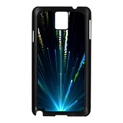 Seamless Colorful Blue Light Fireworks Sky Black Ultra Samsung Galaxy Note 3 N9005 Case (black)