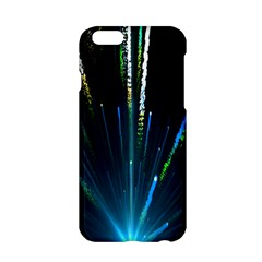 Seamless Colorful Blue Light Fireworks Sky Black Ultra Apple Iphone 6/6s Hardshell Case by AnjaniArt