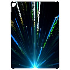 Seamless Colorful Blue Light Fireworks Sky Black Ultra Apple Ipad Pro 12 9   Hardshell Case by AnjaniArt