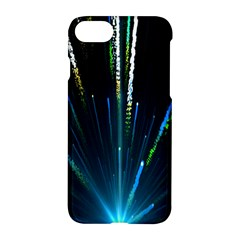 Seamless Colorful Blue Light Fireworks Sky Black Ultra Apple Iphone 7 Hardshell Case