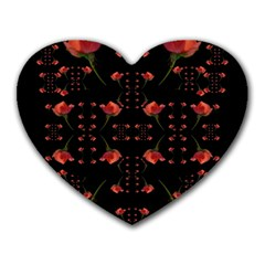 Roses From The Fantasy Garden Heart Mousepads by pepitasart