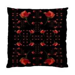 Roses From The Fantasy Garden Standard Cushion Case (one Side) by pepitasart