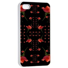 Roses From The Fantasy Garden Apple Iphone 4/4s Seamless Case (white) by pepitasart