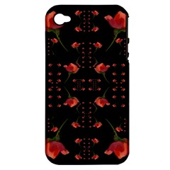 Roses From The Fantasy Garden Apple Iphone 4/4s Hardshell Case (pc+silicone) by pepitasart