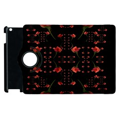 Roses From The Fantasy Garden Apple Ipad 3/4 Flip 360 Case by pepitasart