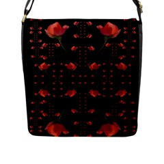 Roses From The Fantasy Garden Flap Messenger Bag (l)  by pepitasart
