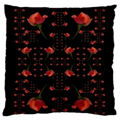 Roses From The Fantasy Garden Standard Flano Cushion Case (one Side) by pepitasart
