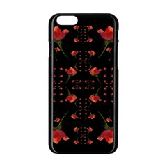 Roses From The Fantasy Garden Apple Iphone 6/6s Black Enamel Case by pepitasart