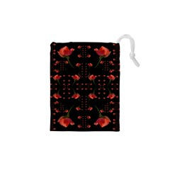 Roses From The Fantasy Garden Drawstring Pouches (xs)  by pepitasart