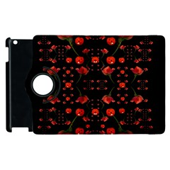 Pumkins And Roses From The Fantasy Garden Apple Ipad 3/4 Flip 360 Case by pepitasart