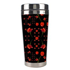 Pumkins And Roses From The Fantasy Garden Stainless Steel Travel Tumblers by pepitasart