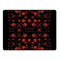 Pumkins And Roses From The Fantasy Garden Double Sided Fleece Blanket (small)  by pepitasart