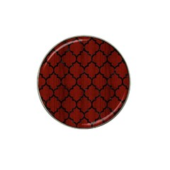 Tile1 Black Marble & Reddish Brown Wood Hat Clip Ball Marker (10 Pack) by trendistuff