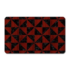 Triangle1 Black Marble & Reddish Brown Wood Magnet (rectangular) by trendistuff