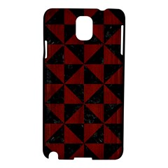 Triangle1 Black Marble & Reddish Brown Wood Samsung Galaxy Note 3 N9005 Hardshell Case by trendistuff