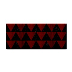 Triangle2 Black Marble & Reddish Brown Wood Cosmetic Storage Cases by trendistuff