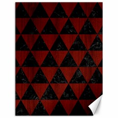 Triangle3 Black Marble & Reddish Brown Wood Canvas 12  X 16   by trendistuff