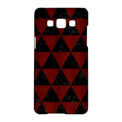 Triangle3 Black Marble & Reddish Brown Wood Samsung Galaxy A5 Hardshell Case  by trendistuff