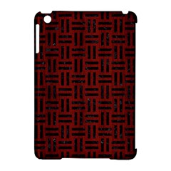 Woven1 Black Marble & Reddish Brown Wood Apple Ipad Mini Hardshell Case (compatible With Smart Cover) by trendistuff