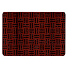 Woven1 Black Marble & Reddish Brown Wood Samsung Galaxy Tab 8 9  P7300 Flip Case by trendistuff