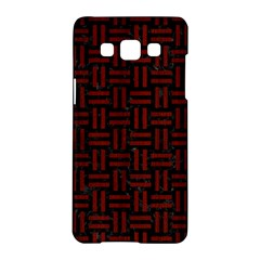 Woven1 Black Marble & Reddish Brown Wood (r) Samsung Galaxy A5 Hardshell Case  by trendistuff