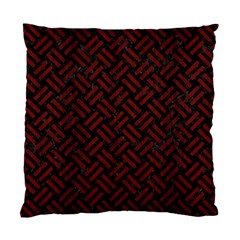 Woven2 Black Marble & Reddish Brown Wood (r) Standard Cushion Case (one Side) by trendistuff