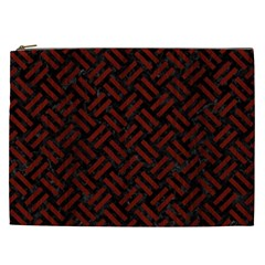 Woven2 Black Marble & Reddish Brown Wood (r) Cosmetic Bag (xxl)  by trendistuff