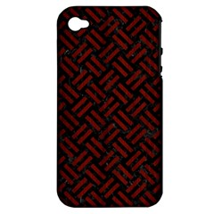 Woven2 Black Marble & Reddish Brown Wood (r) Apple Iphone 4/4s Hardshell Case (pc+silicone) by trendistuff