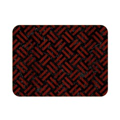 Woven2 Black Marble & Reddish Brown Wood (r) Double Sided Flano Blanket (mini)  by trendistuff