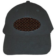 Brick1 Black Marble & Rusted Metal (r) Black Cap by trendistuff