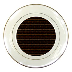 Brick1 Black Marble & Rusted Metal (r) Porcelain Plates by trendistuff