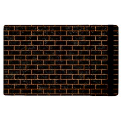Brick1 Black Marble & Rusted Metal (r) Apple Ipad 2 Flip Case by trendistuff