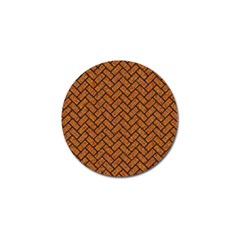 Brick2 Black Marble & Rusted Metal Golf Ball Marker (10 Pack) by trendistuff