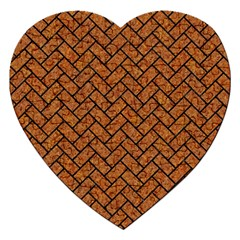 Brick2 Black Marble & Rusted Metal Jigsaw Puzzle (heart) by trendistuff