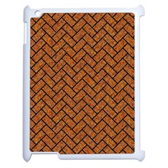 Brick2 Black Marble & Rusted Metal Apple Ipad 2 Case (white) by trendistuff