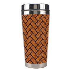 Brick2 Black Marble & Rusted Metal Stainless Steel Travel Tumblers by trendistuff