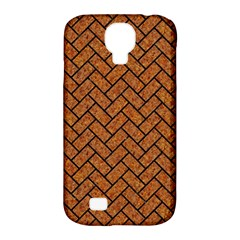 Brick2 Black Marble & Rusted Metal Samsung Galaxy S4 Classic Hardshell Case (pc+silicone) by trendistuff