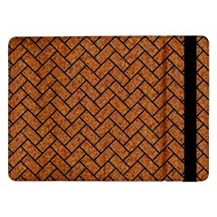 Brick2 Black Marble & Rusted Metal Samsung Galaxy Tab Pro 12 2  Flip Case by trendistuff