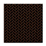 BRICK2 BLACK MARBLE & RUSTED METAL (R) Face Towel Front
