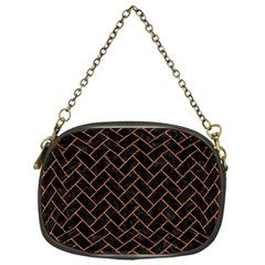 Brick2 Black Marble & Rusted Metal (r) Chain Purses (one Side)  by trendistuff