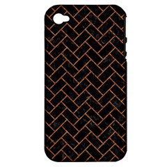 Brick2 Black Marble & Rusted Metal (r) Apple Iphone 4/4s Hardshell Case (pc+silicone) by trendistuff