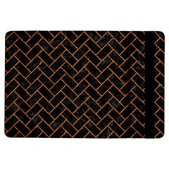 Brick2 Black Marble & Rusted Metal (r) Ipad Air Flip by trendistuff