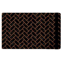 Brick2 Black Marble & Rusted Metal (r) Apple Ipad Pro 12 9   Flip Case by trendistuff