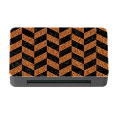 Chevron1 Black Marble & Rusted Metal Memory Card Reader With Cf by trendistuff