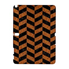 Chevron1 Black Marble & Rusted Metal Galaxy Note 1 by trendistuff