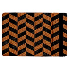 Chevron1 Black Marble & Rusted Metal Ipad Air Flip by trendistuff