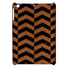 Chevron2 Black Marble & Rusted Metal Apple Ipad Mini Hardshell Case by trendistuff